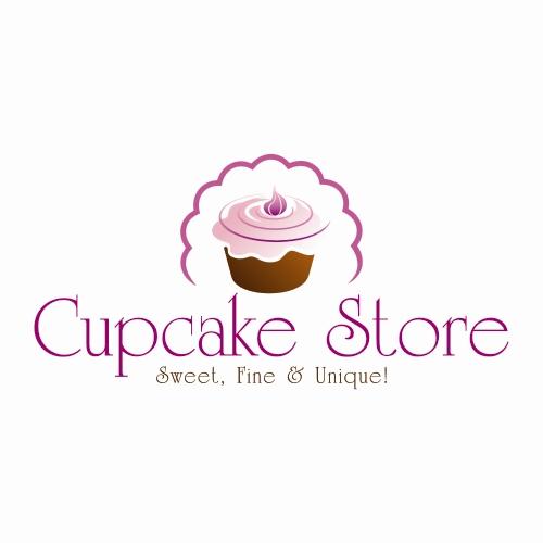 Cupcake Store Criacao De Logo Para Loja De Cupcakes E Outros Bolo
