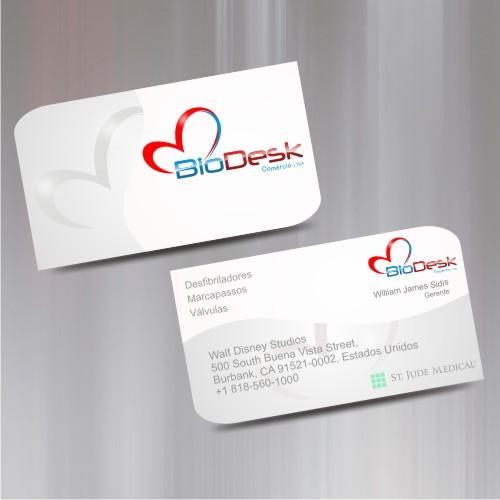 Criao de logo e cartao de visita para biodesk comercio ltda comprar logo e cartao de visita reheart Images