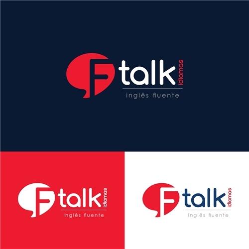 Ftalk Idiomas Inglês Fluente Criação De Logo Para Educação Cursos
