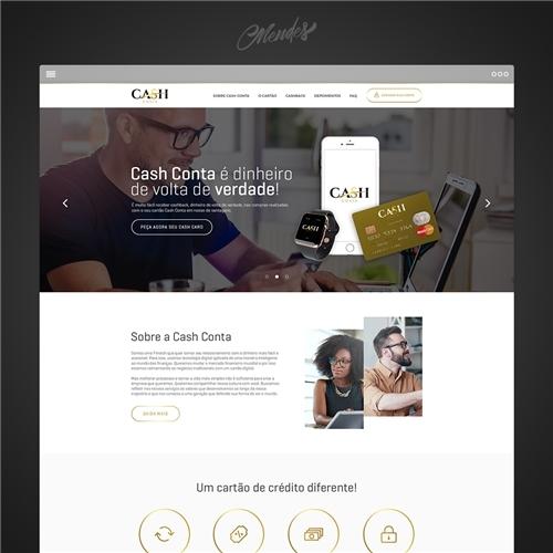 4da124559 Layout Web-Design para CASH CONTA | Lincoln .. 5073667