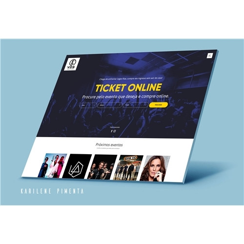 35360e56c Layout Web-Design para Venda de Shows | Karilene.. 5291277