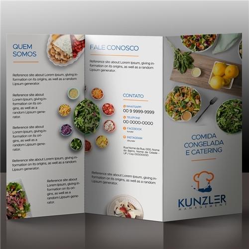 Kunzler Management | Criação de Folder Para Alimentos & Bebidas