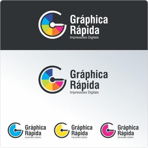 cria231227o de logo para gr225fica r225pida