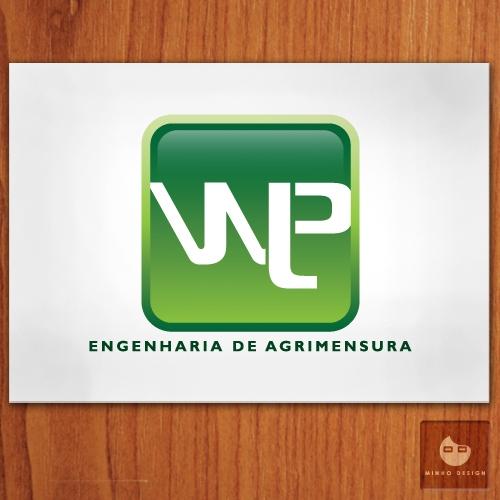 Exemplo de Logo do designer Minho Design para a wlp engenharia de agrimensura
