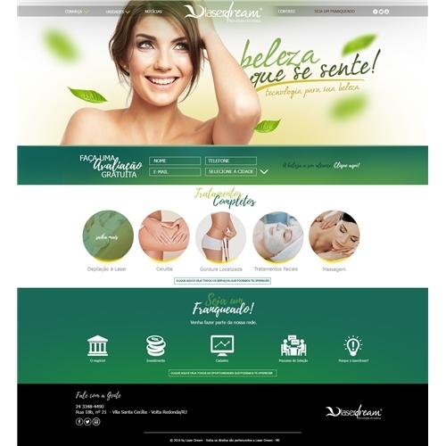 Layout web-designer para Beleza