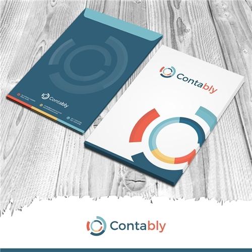 Contably Contabilidade, Logo e Identidade, Contabilidade & Finanças