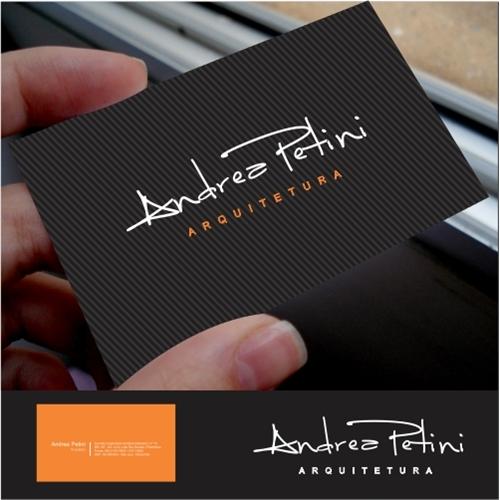 Amado Logo e Cartao de Visita para Andrea Petini Arquitetura | We Do Logos PS75