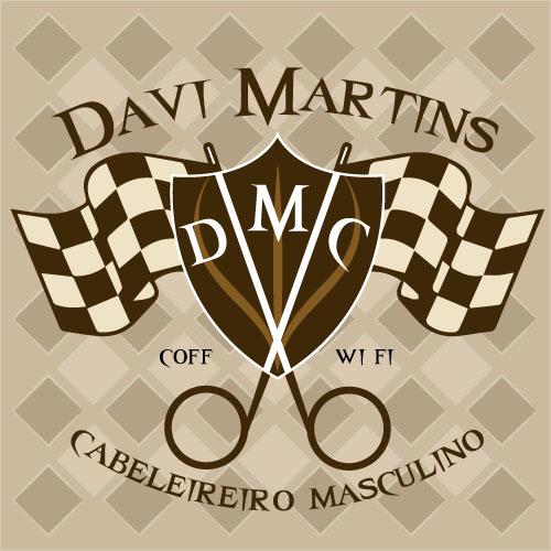 Fabuloso Logo para Davi Martins Cabeleireiro Masculino | We Do Logos XM19