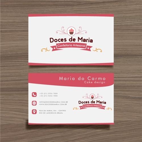 Muitas vezes Logo e Cartao de Visita para Doces D' Maria Confeitaria Artesanal  EZ07