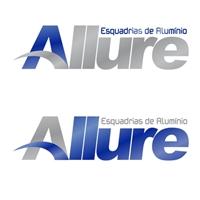 ALLURE Esquadrias de Alumínio, Logo e Identidade, Esquadrias