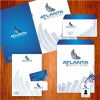 ATLANTA SERVIÇOS LTDA, Logo e Identidade, Segurança & Vigilância