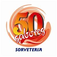 50 sabores, Logo e Identidade, sorveteria