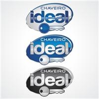 AUTO CHAVEIRO IDEAL, Logo e Identidade, SERVIÇOS DE CHAVEIRO 24 HORAS