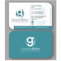 Gustavo Ritter - Arquiteto e Urbanista, Logo e Identidade, Construção & Engenharia