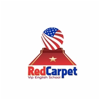 Red Carpet (vip English school), Logo e Identidade, Educação & Cursos