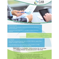 ANUNCIO CAB CONTABILIDADE, Peças Gráficas e Publicidade, Contabilidade & Finanças