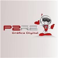 Mascote da  P2R2 Gráfica Digital, Construçao de Marca, Computador & Internet