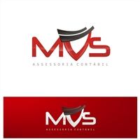 MVS Assessoria Contábil, Logo e Identidade, Contabilidade & Finanças