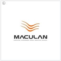 Maculan construtora, incorporadora, arquitetura e imóveis, Logo e Identidade, Construção & Engenharia