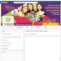 Facebook da Turma de Estudos, Marketing Digital, Educação & Cursos