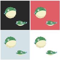 Mascote de um Puffer (blowfish ou Baiacú), Construçao de Marca, Computador & Internet