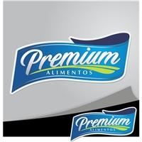 Premium Alimentos, Logo e Identidade, Alimentos & Bebidas