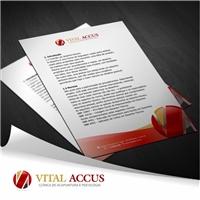 VITAL ACCUS CLINICA DE ACUPUNTURA E PSICOLOGIA, Logo e Identidade, Saúde & Nutrição