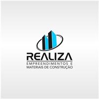 REALIZA MATERIAIS DE CONSTRUÇAO E ADMINISTRAÇAO DE OBRAS, Logo e Identidade, Construção & Engenharia