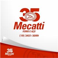 Logo comemorativo 35 anos - Mecatti Comércio de Ferro e Aço Ltda, Logo e Identidade, Metal & Energia