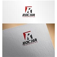 Rocha Transportes, Logo e Identidade, Logística, Entrega & Armazenamento