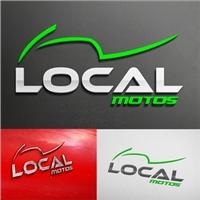 LOCAL MOTOS, Logo e Identidade, SERVIÇOS E PEÇAS DE MOTOS