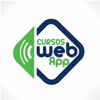 Cursos Web App, Logo e Identidade, Educação & Cursos