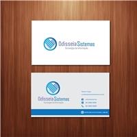 Logo e Cartao de Visita da Odisseia Sistemas, Logo e Identidade, Computador & Internet