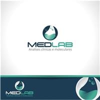MEDLAB Analises clínicas e moleculares, Logo e Identidade, Saúde & Nutrição