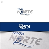 Vento Norte - Manutenção e Monitoramento Ambiental, Logo e Identidade, Tecnologia & Ciencias