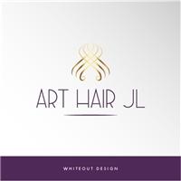 Art Hair JL com o slogan A arte de aprimorar sua beleza, Logo e Identidade, Beleza