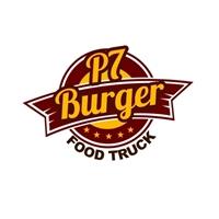 P7 Burger FoodTruck , Logo e Identidade, Alimentos & Bebidas