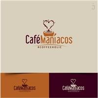 Café Maníacos, Logo e Identidade, Alimentos & Bebidas