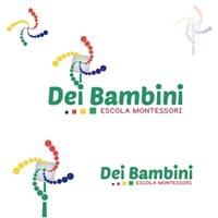 ESCOLA DE EDUCAÇÃO INFANTIL DEI BAMBINI, Logo e Identidade, Educação & Cursos