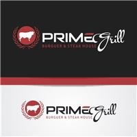 PRIME GRILL - BURGUER & STEAK HOUSE, Logo e Identidade, Alimentos & Bebidas