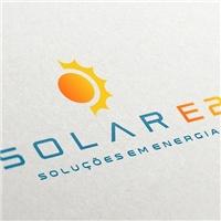 Solar E2 Soluções em Energia, Logo e Identidade, Construção & Engenharia