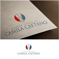 CLINICA VASCULAR CAMILA CAETANO, Logo e Identidade, Saúde & Nutrição