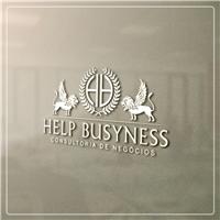 """Help Busyness """"O mundo dos negócios precisa da Help Busyness"""", Logo e Identidade, Consultoria de Negócios"""