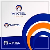 WIKTEL TELECOM, Logo e Identidade, Tecnologia & Ciencias