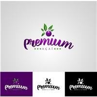 Premium Açaí, Logo e Identidade, Saúde & Nutrição