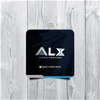 Alxconstrutora , Logo e Identidade, Construção & Engenharia