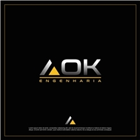 AOK Engenharia, Logo e Identidade, Construção & Engenharia