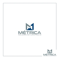 Métrica Soluções em Construção LTDA, Logo e Identidade, Construção & Engenharia