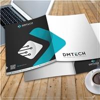 DMTECH - Soluções em Tecnologia, Logo e Identidade, Tecnologia & Ciencias