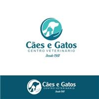 Centro Veterinário Cães e Gatos, Logo e Identidade, Animais